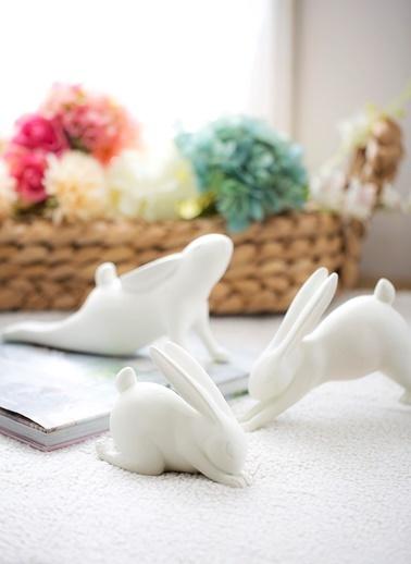 Yoga Yapan Tavşan Dekoratif Obje -Warm Design